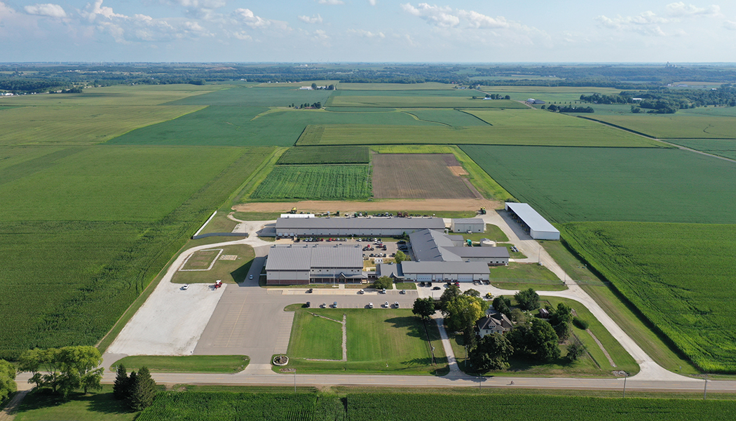 aerial view of the Precision Planting facility